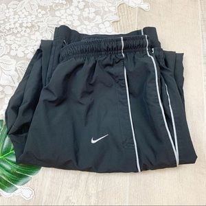 Nike Black Windbreaker Running Track Pants 1806